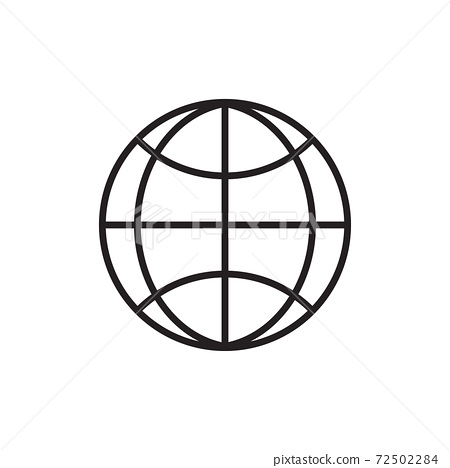Isolated internet button icon 72502284