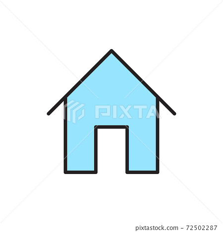 Isolated home button icon 72502287