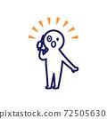 打電話時驚人的簡單和變形的人類插圖 72505630