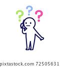 一個簡單而變形的人類插圖,讓我想起打電話時的Hatena標記 72505631