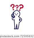 一個簡單而變形的人類插圖,讓我想起打電話時的Hatena標記 72505632