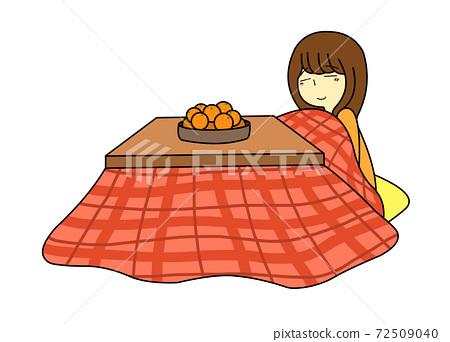Woman in a kotatsu 72509040