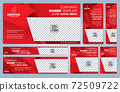 Set of Red and Black Web banners templates, Standard sizes with space. Vector illustration 72509722