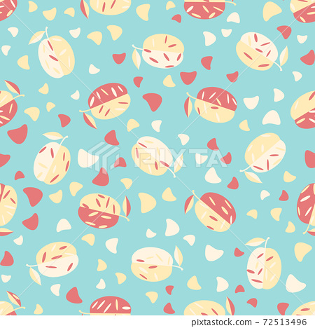 Cute seamless pattern with fruits. Beautiful textile or paper print. Vector illustration. 72513496