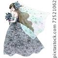 블루 드레스의 신부 72521062