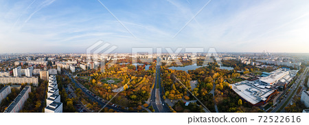 View of Bucharest from the drone, Romania 72522616