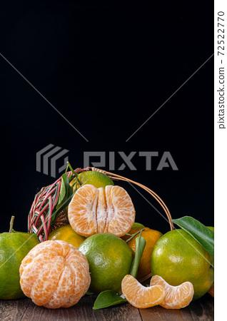 橘子 農業 木板 蜜柑 Tangerine wooden background 蜜柑 みかん 72522770