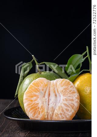橘子 農業 木板 蜜柑 Tangerine wooden background 蜜柑 みかん 72522776