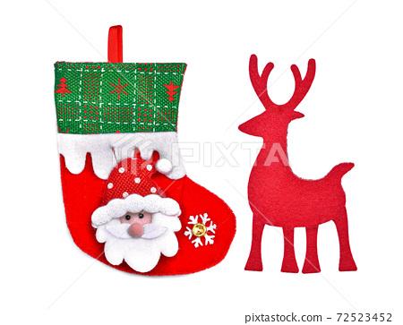 Christmas decoration isolated on white background 72523452