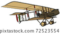 The vintage military biplane 72523554