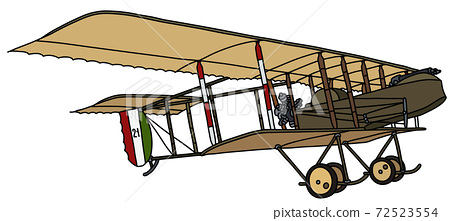 The vintage military biplane 72523554