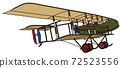 The vintage military biplane 72523556