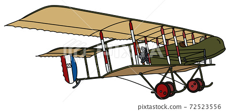 The vintage military biplane 72523556