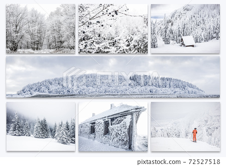 collection frozen winter landscapes white Christmas - original images to be found in my gallery 72527518