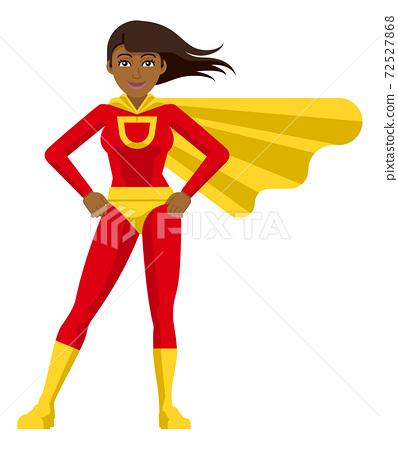 Asian Superhero Woman Cartoon 72527868