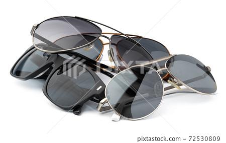 Set of glasses isolated on white background 72530809