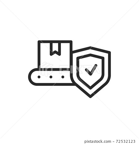 Production insurance color line icon. Isolated vector element. 72532123