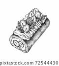 草莓糕,食物揖,點畫效果 72544430