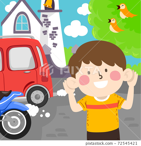 Kid Boy Aware Environment Sounds Illustration 72545421