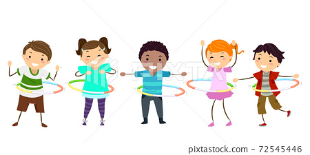 Stickman Kids Hula Hoop Illustration 72545446