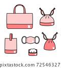 用來上幼兒園和學校的布袋,口罩等布製品 72546327