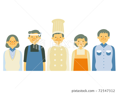 A set of people from various professions 72547312