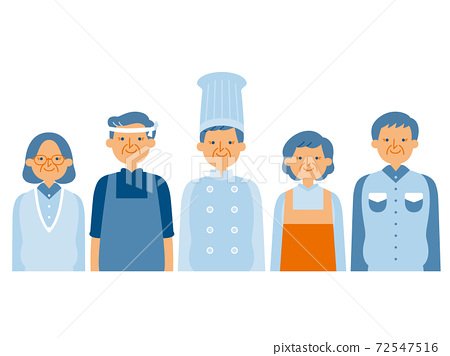 People of various occupations (simple color) 72547516