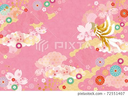 背景素材-日式櫻花,鳳凰4科技 72551407