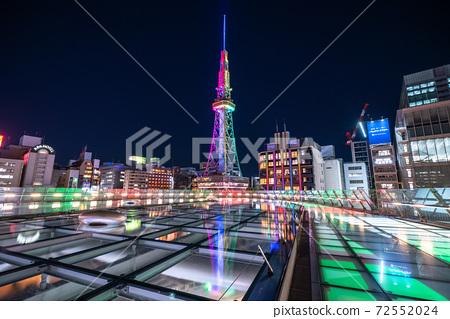 《愛知縣》名古屋市夜景,電視塔和綠洲21 72552024