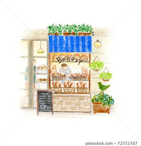 城市裡的一家小麵包店 72552587