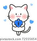 貓愛情人節白色情人節插畫素材 72555654