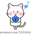 貓愛情人節白色情人節插畫素材 72555656