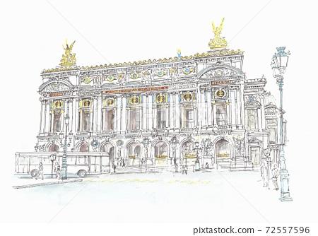 유럽의 거리 풍경 · 프랑스 · 파리 오페라 가르니에 72557596