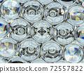 Diamond gemstone shine glass sphere bubbles pattern kaleidoscope background 72557822