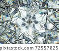 Gemstone diamond or shiny glass triangular texture kaleidoscope 72557825
