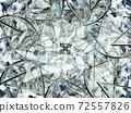 Gemstone diamond or shiny glass triangular texture kaleidoscope 72557826