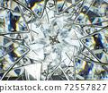 diamond Gemstone or shiny glass triangular texture kaleidoscope 72557827