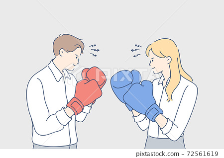 Competition, boxing, challenge, fighting, rivalry, business concept 72561619