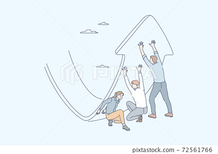 Anti crisis strategy, investment management, raising profit, business concept 72561766