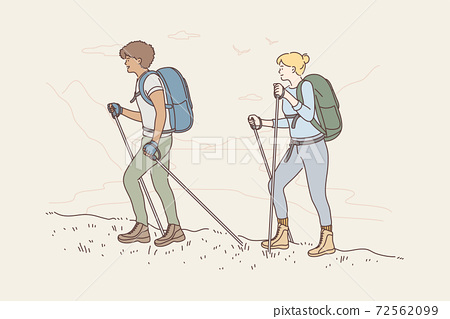 Travelling, tourism, mountaineering, activity, adventure concept 72562099