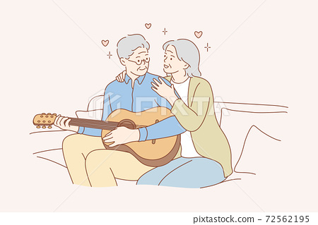 Couple, love, play, romance, music, recreation concept 72562195