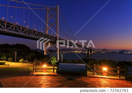 [香川縣]南備山瀨戶大橋和北備山瀨戶大橋的夜景 72562761