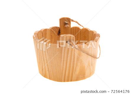 wooden bucket isolated 72564176