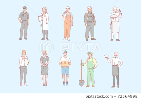 Mans and womans proffesions, jobs set concept 72564998