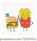 BFF best friend Burger And Fries 72567651