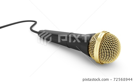 3d rendering microphone isolated on white background 72568944