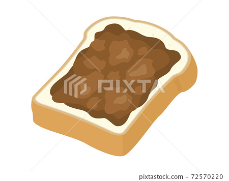 Illustration of bread with chocolate 72570220