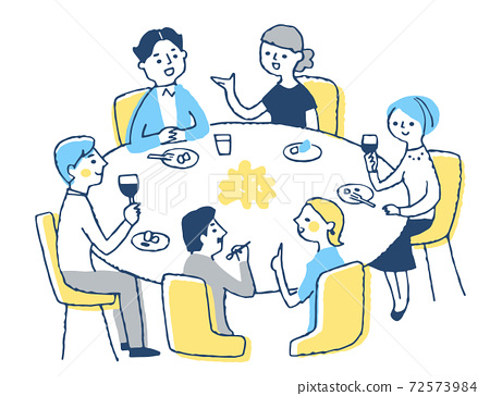 男女吃晚餐 72573984