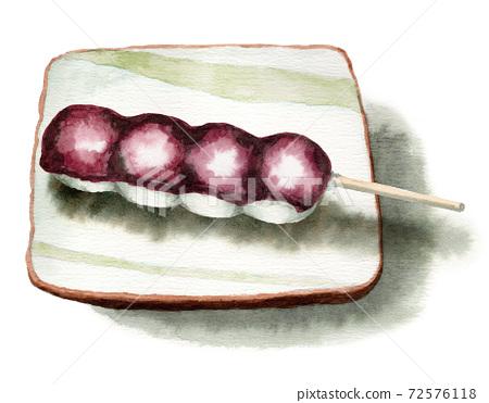 模擬水彩串餃子越式日本甜點 72576118