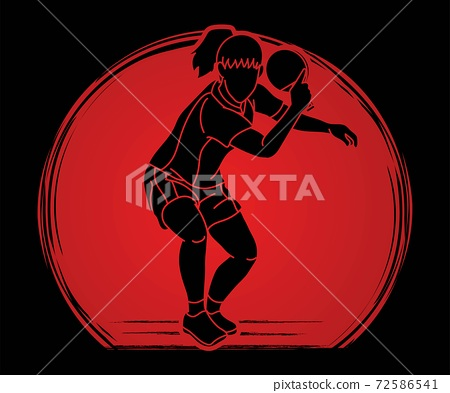 Ping Pong player, Table tennis action cartoon graphic vector 72586541